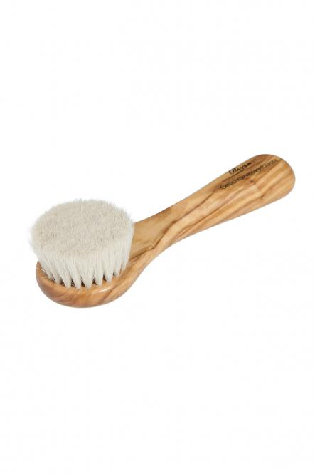 Gesichtsmassagebürste mit Stiel Ziegenhaar