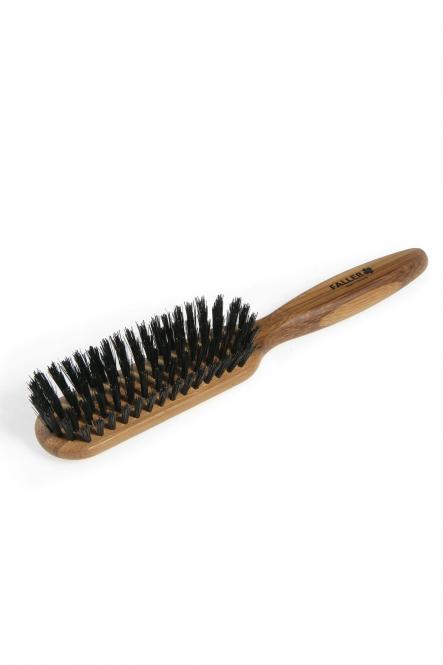 Haarbürste Bambus Wildschweinborste schmal